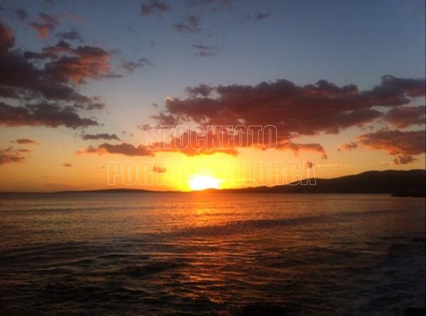 Sonnenuntergang Strand Mallorca Foto von einen der legendären Sonnenuntergänge in der Bucht von Palma de Mallorca
