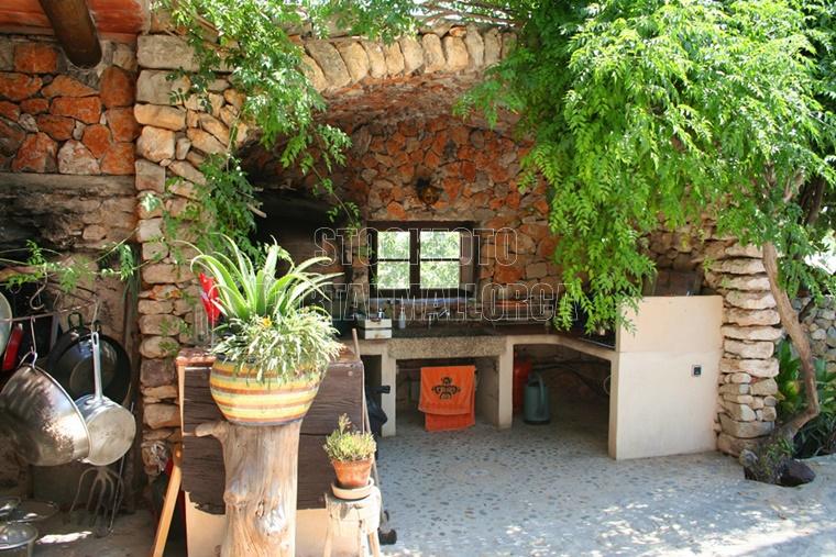 Finca Aussenküche mallorquinisches Landhaus